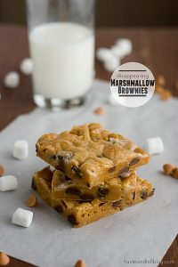 Disappearing Marshmallow Brownies | www.tasteandtellblog.com #recipe #blondie #bar #dessert