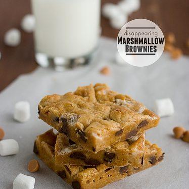Disappearing Marshmallow Brownies   www.tasteandtellblog.com #recipe #blondie #bar #dessert