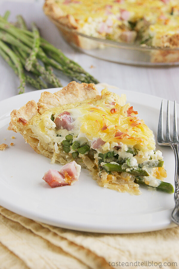 Ham and Asparagus Quiche | Taste and Tell