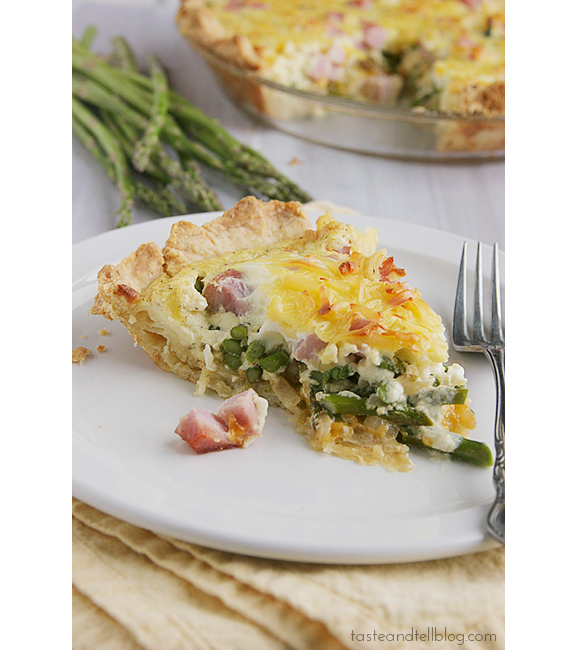 Ham and Asparagus Quiche | www.tasteandtellblog.com