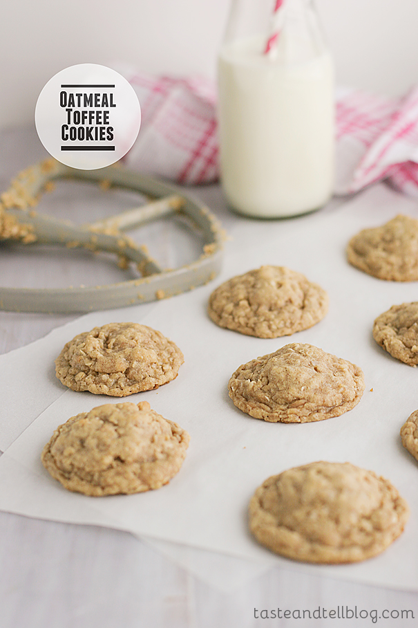 Oatmeal Toffee Cookies from www.tasteandtellblog.com