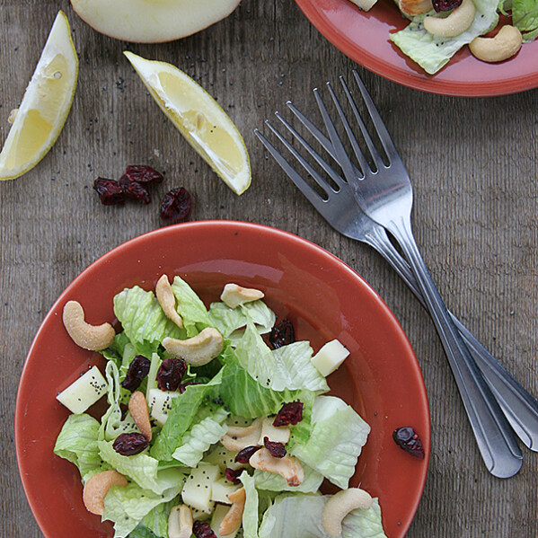 Winter Fruit Salad with Lemon Poppyseed Dressing on Taste and Tell