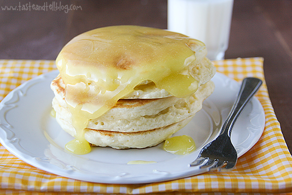 Pancakes with Lemon Sauce