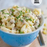 Stovetop Sausage Mac and Cheese on Taste and Tell
