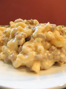 Stovetop Sausage Mac and Cheese | www.tasteandtellblog.com