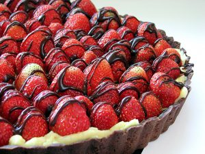 Chocolate Strawberry Tart | www.tasteandtellblog.com