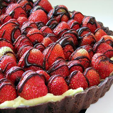 Chocolate Strawberry Tart | www.tasteandtellblog.com