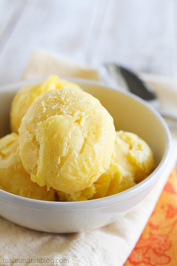 Mango Sorbet - Taste and Tell