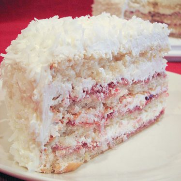Perfect White Party Cake on Taste and Tell