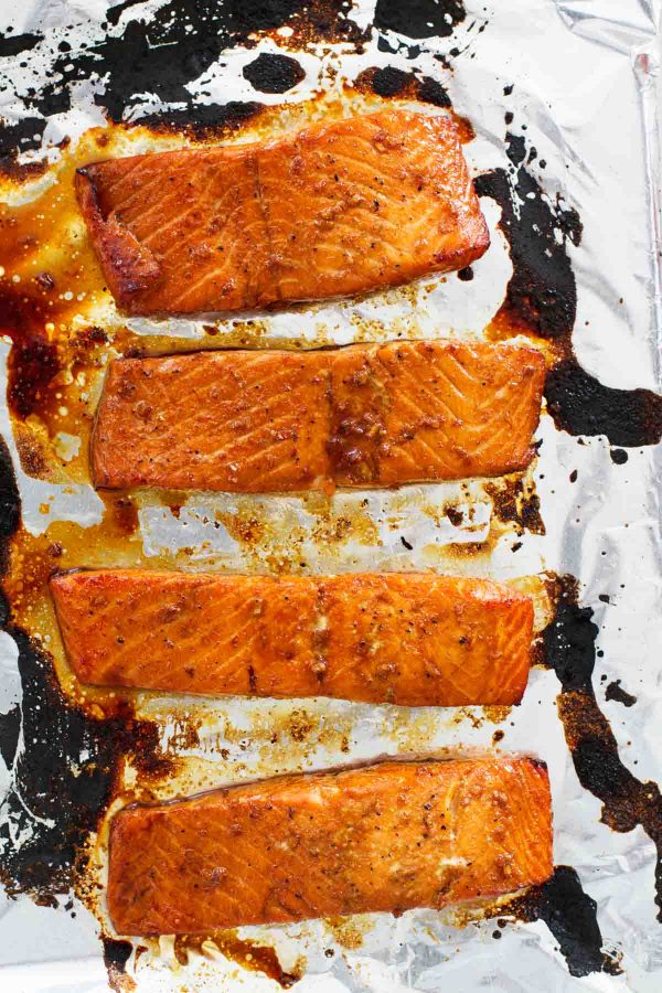 Broiled Soy Ginger Salmon
