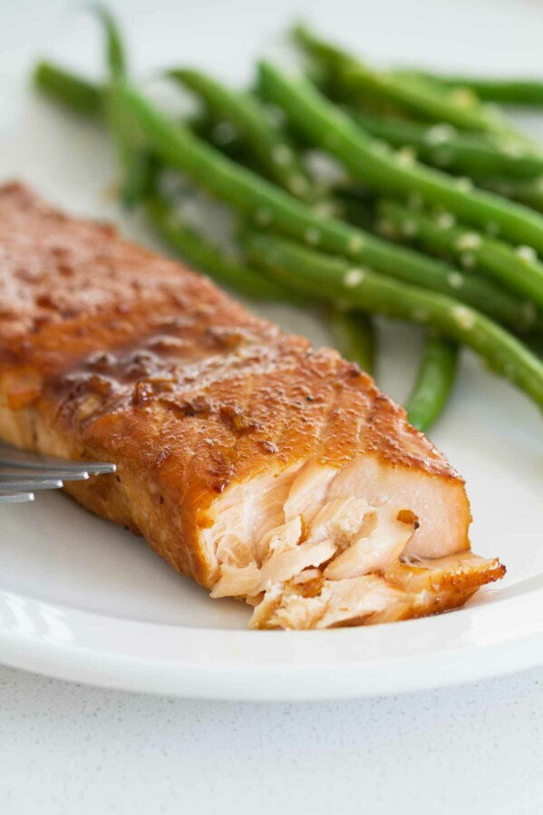 flaked Soy Ginger Salmon dinner