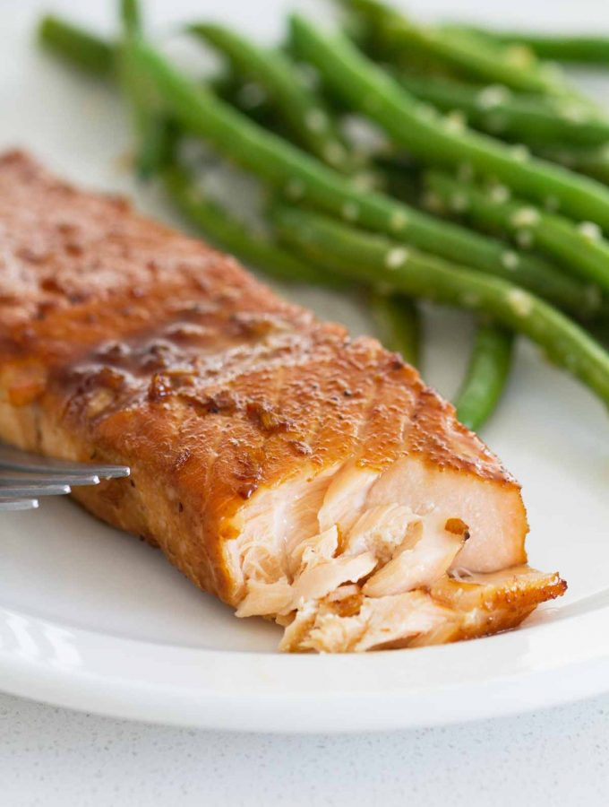 flaked Soy Ginger Salmon dinner