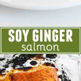 Soy Ginger Salmon collage