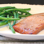 Soy Ginger Salmon and Sesame Green Beans