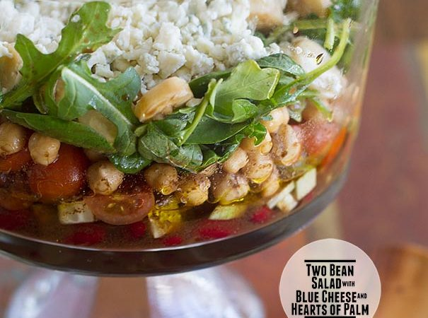 Two Bean Salad with Blue Cheese and Hearts of Palm