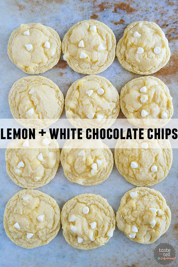 Cake Mix Cookies 12 Ways - Lemon Cake Mix + White Chocolate Chips