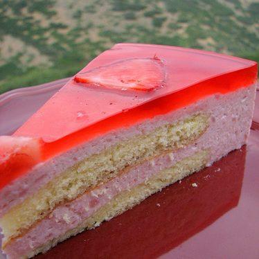 Strawberry Mirror Cake | www.tasteandtellblog.com