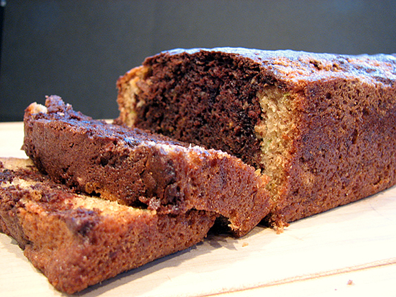 Chocolate Wave Zucchini Bread | www.tasteandtellblog.com