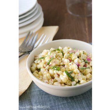Fresh Corn Salad | www.tasteandtellblog.com