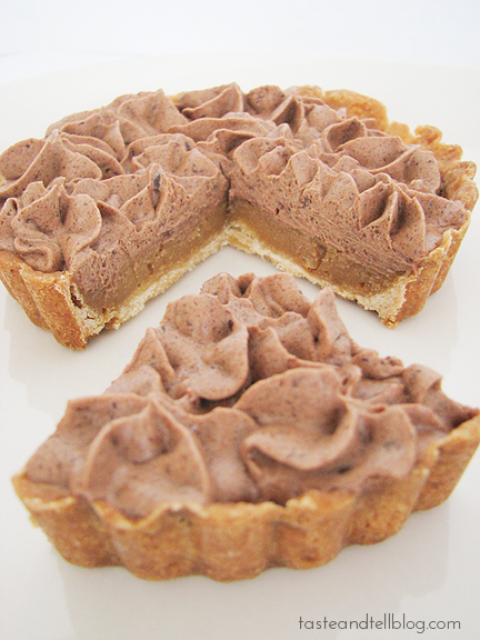 Milk Chocolate and Caramel Tart   www.tasteandtellblog.com