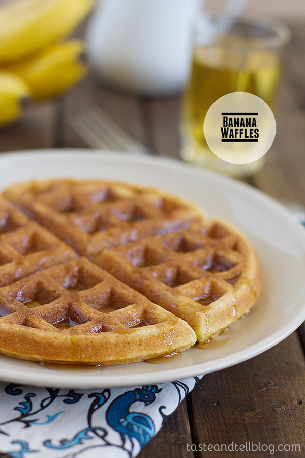Turn those over-ripe bananas into breakfast with these easy Banana Waffles.