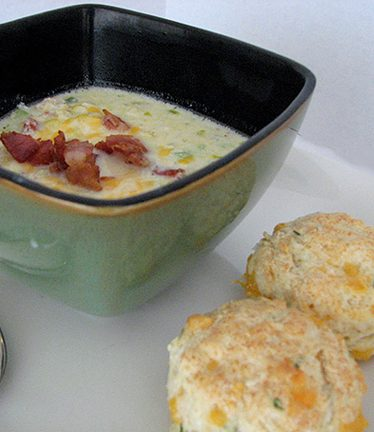 Corn and Cheese Chowder | www.tasteandtellblog.com
