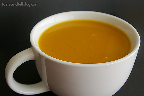 Curried Butternut Squash Soup   www.tasteandtellblog.com