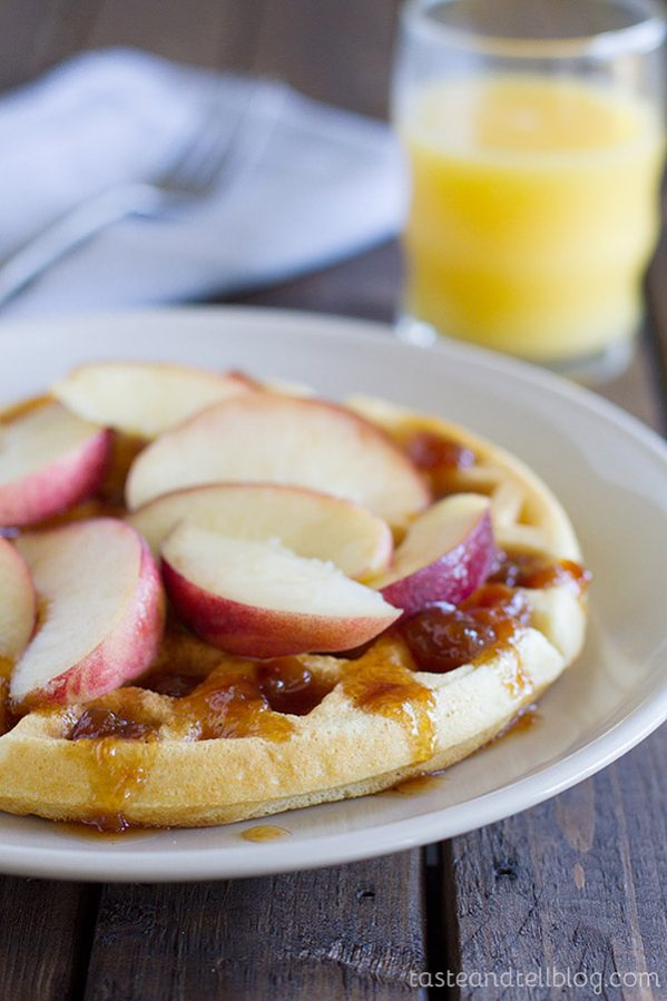 This Easy Waffle Recipe makes basic waffles that are light and fluffy. Serve with maple syrup or with your favorite fruit and jam.