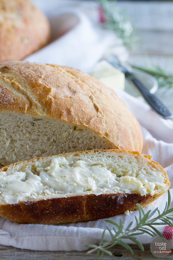 A great use for leftover potatoes, this Potato Bread Recipe with Rosemary and Roasted garlic is super tender from the potatoes and has great flavor from the rosemary and garlic.