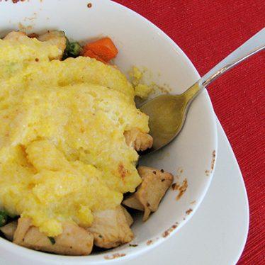 Tarragon Cream Chicken and Polenta Pot Pie | www.tasteandtellblog.com