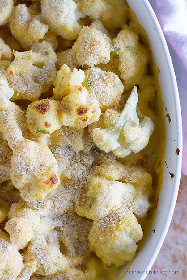 Cheddar Cauliflower Gratin