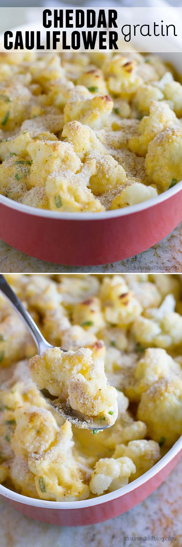 Who can resist cauliflower covered in a cheese sauce?  This Cauliflower Gratin has cauliflower covered in a creamy cheese sauce then sprinkled with breadcrumbs and baked for a veggie side dish everyone will love.