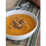 Creamy Sweet Potato Soup | www.tasteandtellblog.com