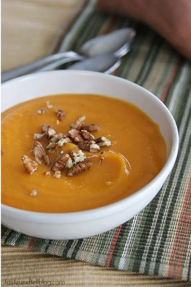 Creamy Sweet Potato Soup | www.tasteandtellblog.com