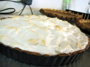 French Lemon Cream Tart with Meringue | www.tasteandtellblog.com