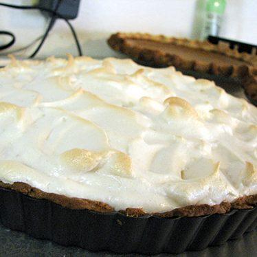 French Lemon Cream Tart with Meringue | www.tasteandtellblog.com