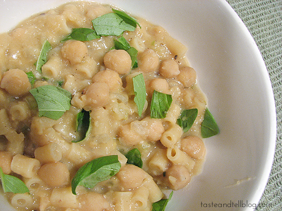 Pasta with Chickpeas | www.tasteandtellblog.com