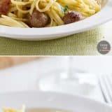 How to Make Sausage Carbonara Pasta