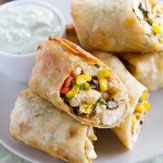 These Southwestern Egg Rolls are a family favorite - filled with chicken, corn, beans, spinach and tex-mex spices. Serve with Avocado Ranch Dipping Sauce.