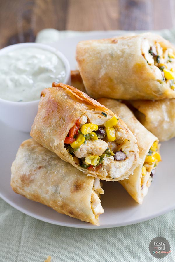 recipe: southwest chicken egg rolls [3]