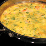 The Best Shrimp and Parsley Frittata | www.tasteandtellblog.com