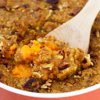 A sweet and decadent side dish, this really is the BEST Sweet Potato Casserole. It is perfect for the holidays!