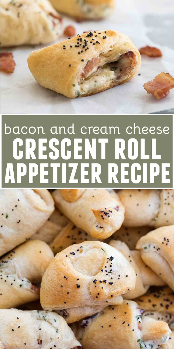 Bacon and Cream Cheese Crescent Appetizer Recipe