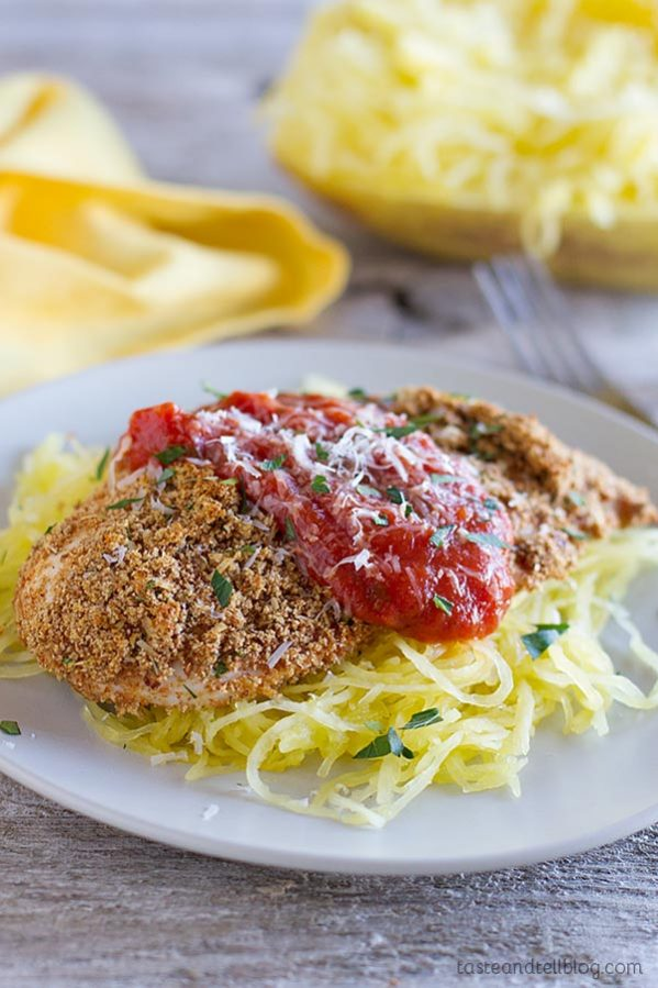 A healthier alternative to the well known fried Chicken Parmesan, this Baked Chicken Parmesan is crispy and juicy and will leave you just as satisfied!