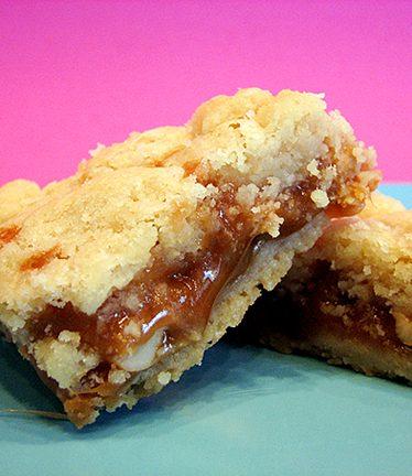 Gooey Caramel Butter Bars | www.tasteandtellblog.com