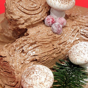 Yule Log Cake   www.tasteandtellblog.com