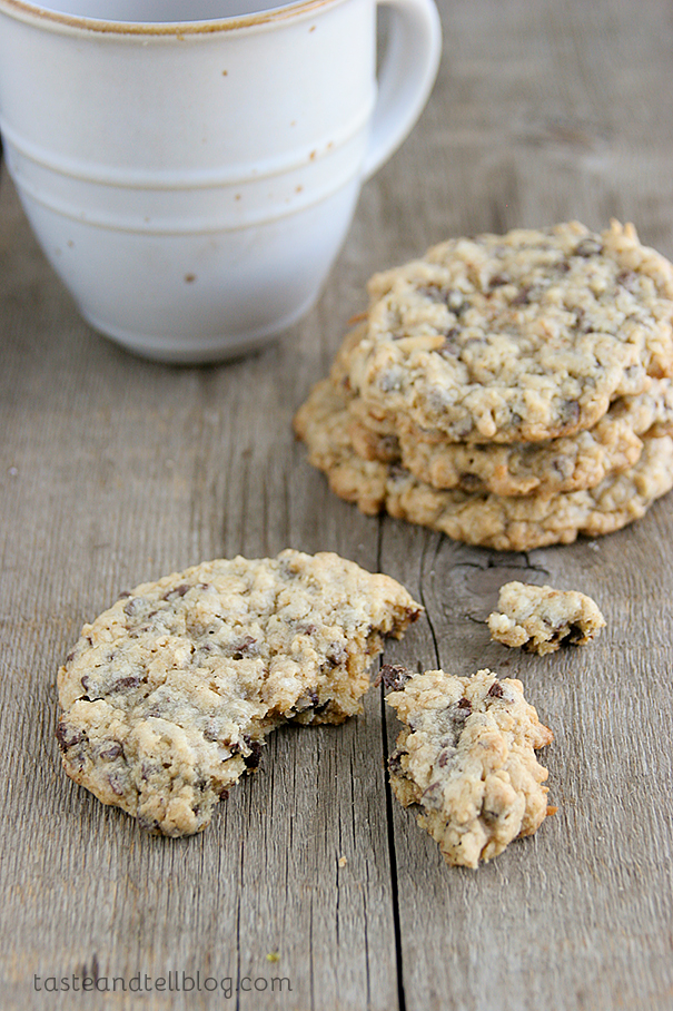 Chocolate Oatmeal Coconut Cookies - Taste and Tell