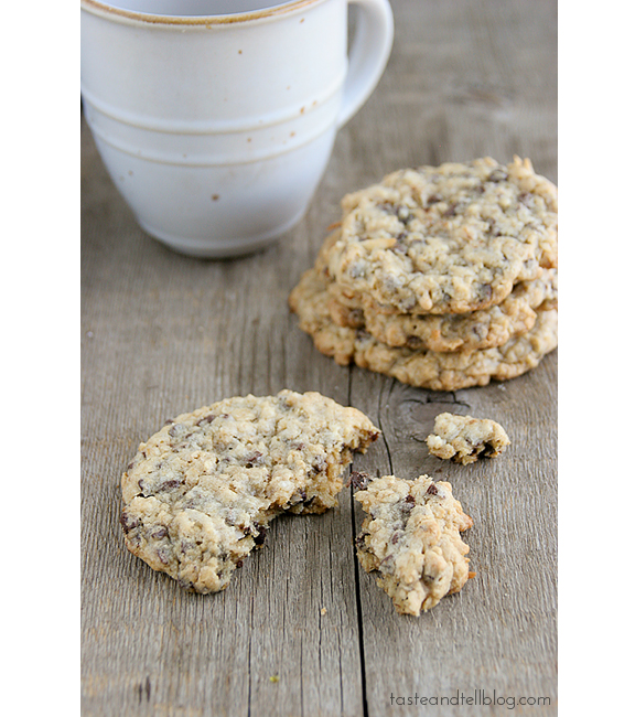 Chocolate Oatmeal Coconut Cookies | www.tasteandtellblog.com #recipe #cookie