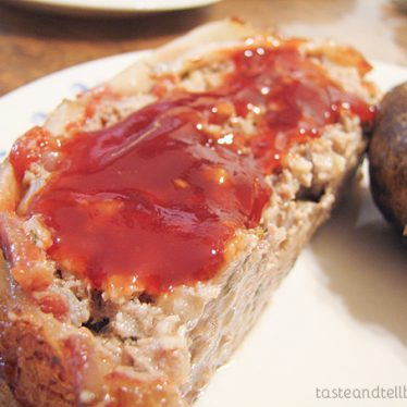 Meat Loaf with Brown Sugar-Ketchup Glaze on Taste and Tell