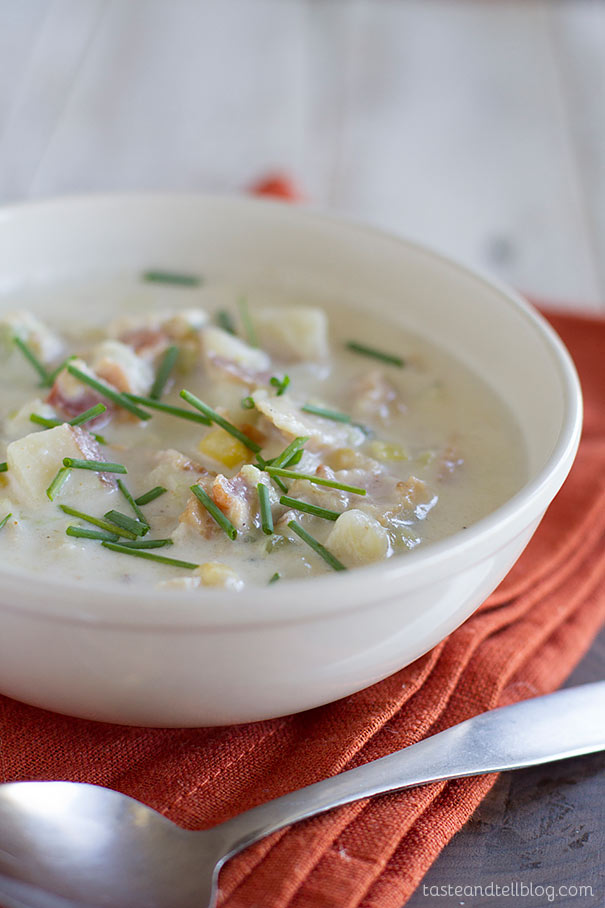 Vegetable and Clam Chowder - Filled with lots of vegetables, this Vegetable and Clam Chowder is a great clam chowder alternative when you don't have access to fresh clams..
